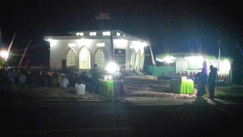 Peresmian Masjid Jannatun Na'im di kompleks rencana RS NU Gunungkidul. KH/Atmaja.