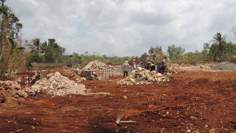 Pembangunan gedung baru. Foto : KH/Kandar