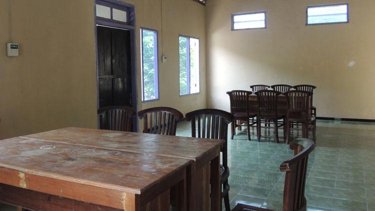 Fasilitas ruang pertemuan dan rapat kapasitas 50 orang
