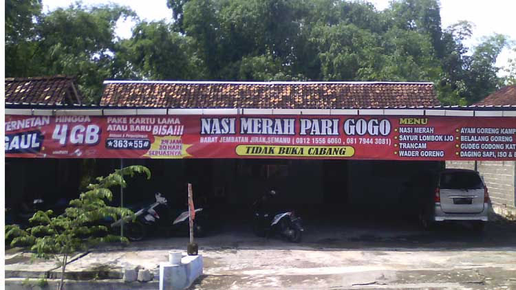 Warung lesehan Pari Gogo, Semanu. KH/ Edo