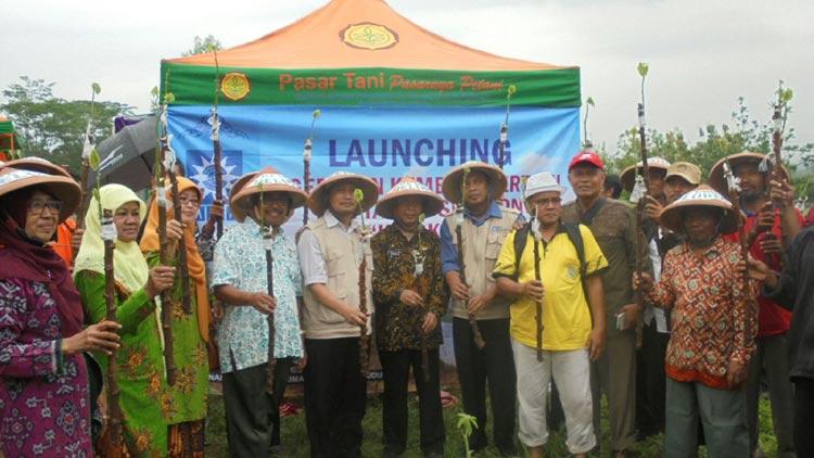 Launching gerakan kembali bertani oleh Pimpinan Pusat Muhammadiyah di Desa Wisata Jelok, Kecamatan Patuk. KH/ Edo