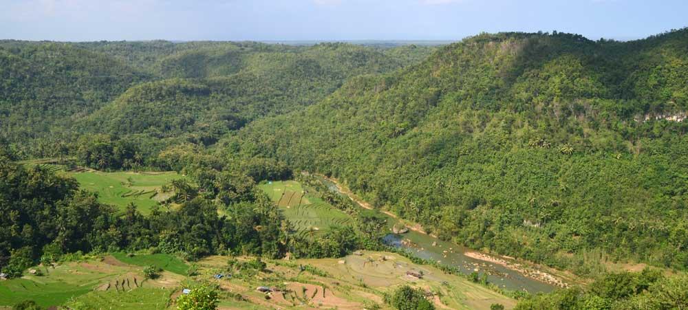 Kali Oya dari Tebing Watu Mabur, Mangunan Dlingo. Photo: WG