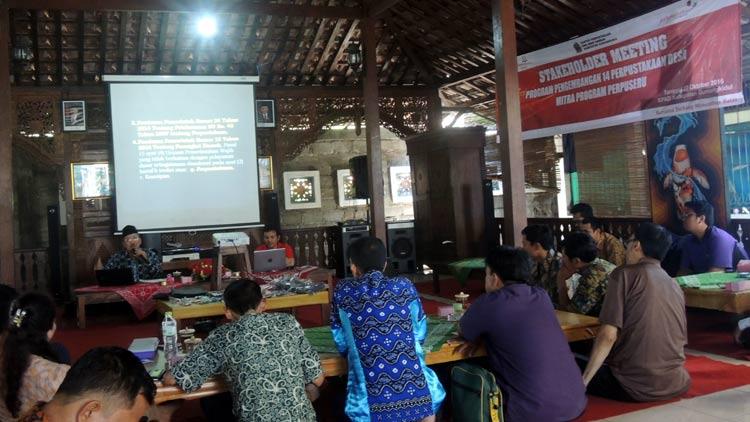Stakeholder meeting antara BPAD DIY, KPAD Gunungkidul, dan 14 Perpusdes serta mitra pendamping. KH/ Kandar.