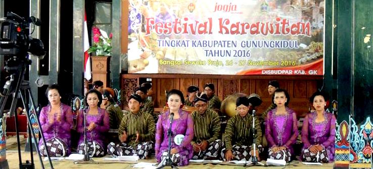 Festival Karawitan antar Kecamatan se-Gunungkidul, 2016