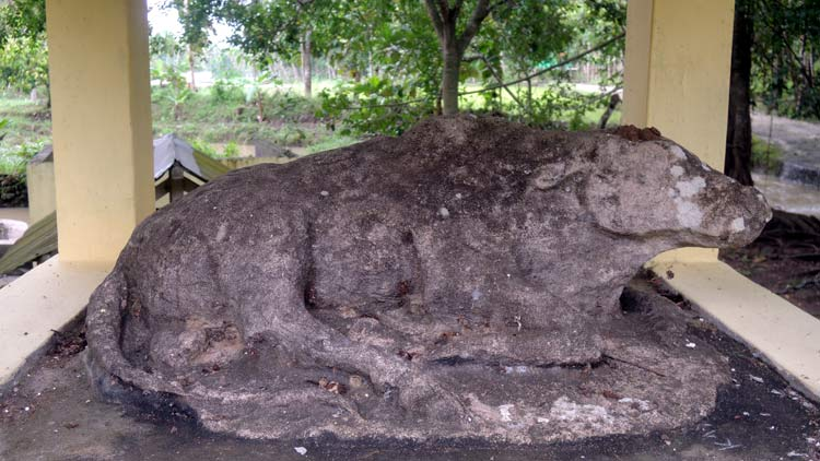 Arca di Situs Kali Banteng, berupa Arca Lembu Andini. KH/ Kandar