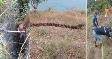 Tebing Timur Pantai Baron Rekah, SAR Berikan Larangan Mendekat