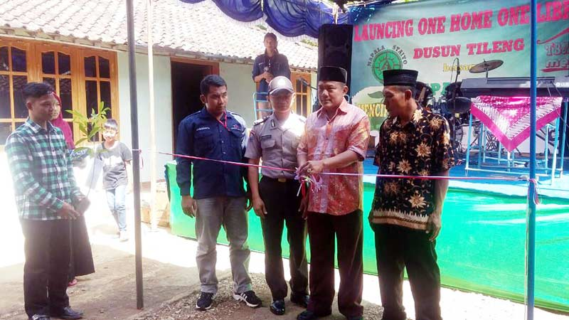 Tbm kuncup mekar launching one home one library di Home mekar