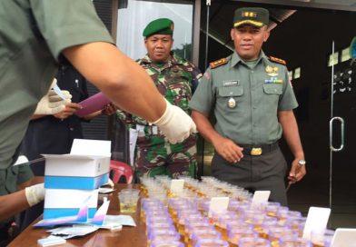 Ratusan Anggota Kodim 0730 Gunungkidul Melakukan Cek Urine