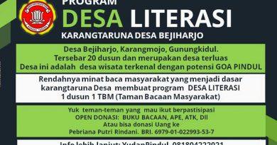 Karang Taruna Desa Bejiharjo Rintis Desa Literasi