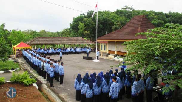 Upacara HUT Korpri Kecamatan Patuk. Foto: Atmaja