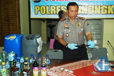 Hasil Operasi Progo Polres Gunungkidul. Foto: Juju.