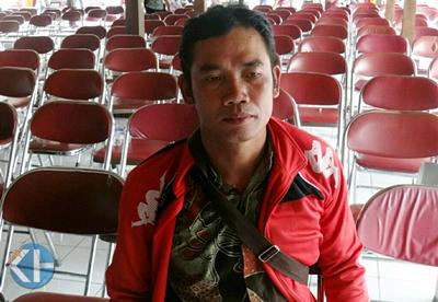 Pardiyo, Eks TKI Kini Turut Bangun Kampung Melalui Enterpreneur. Foto; Maryanto.