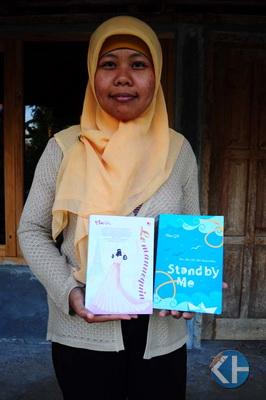 Mini Gk. Penulis muda berbakat. Foto: Mutia.