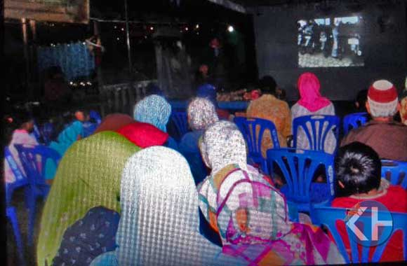 Suasana Pemutaran Film karya pelajar. Foto : Sidik