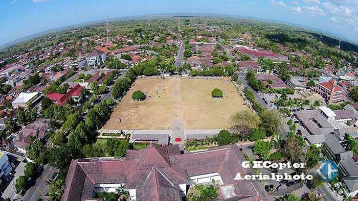 Kompleks Titik Nol Kota Wonosari. Aerial Foto: Praditya.