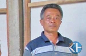 Margono ketua BPD Desa Umbulrejo. Foto : Atmaja.