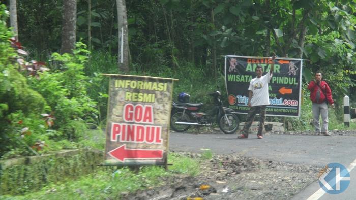 Jalan lternatif joki Goa Pindul. Foto : Atmaja.