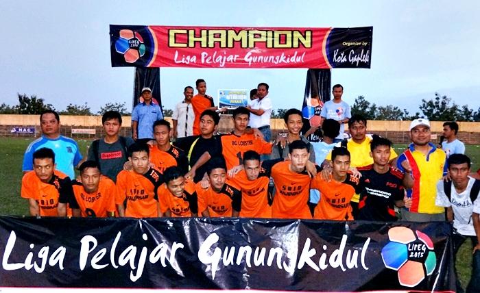 SMAN 1 Tanjungsari Juarai Liga Pelajar Gunungkidul. Foto : Maryanto.