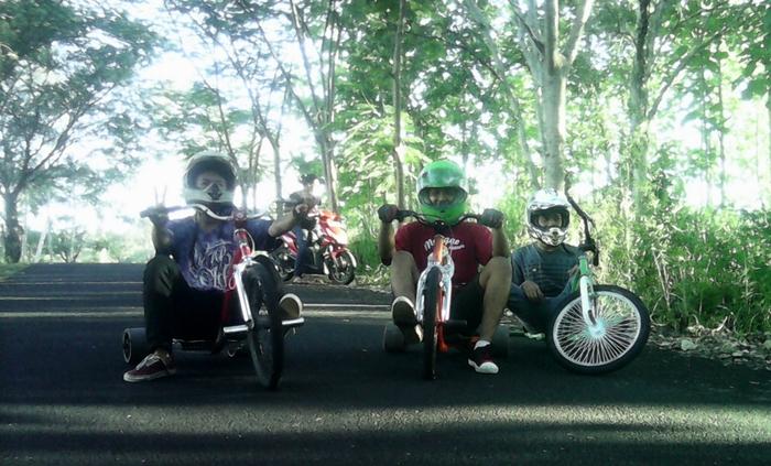 Komunitas Drift Trike. Foto : Edo