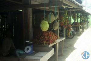 Durian Patuk yang dijual di sepanjang jalur Wonosari Yogyakarta. Foto : Edo