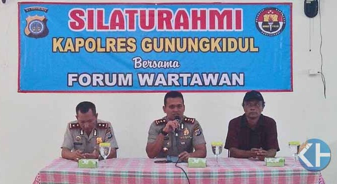 Kapolres Gunungkidul Tatap Muka dengan Forum Wartawan
