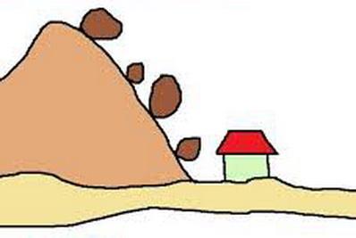 ilustrasi tanah longsor