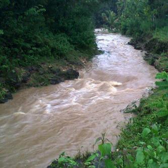 Sungai Sruwuh Dusun Banyubening Bejiharjo. Foto: Juju