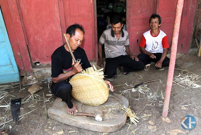 Sentra kerajinan bambu Ngampiran, Melikan, Rongkop. Foto: Bara.