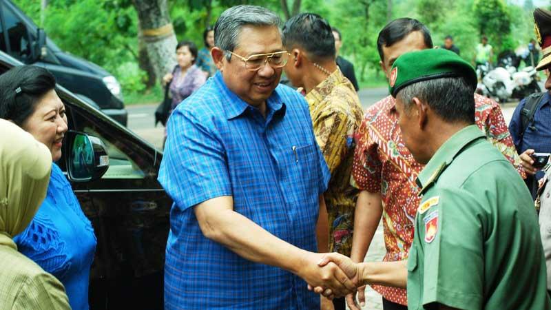 Mantan Presiden SBY mampir di Semanu Gunungkidul. Foto: Juju.