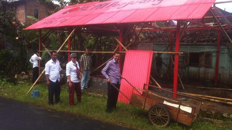 DPC PDIP Gunungkidul bangun 18 rumah aspirasi. Foto: Juju.