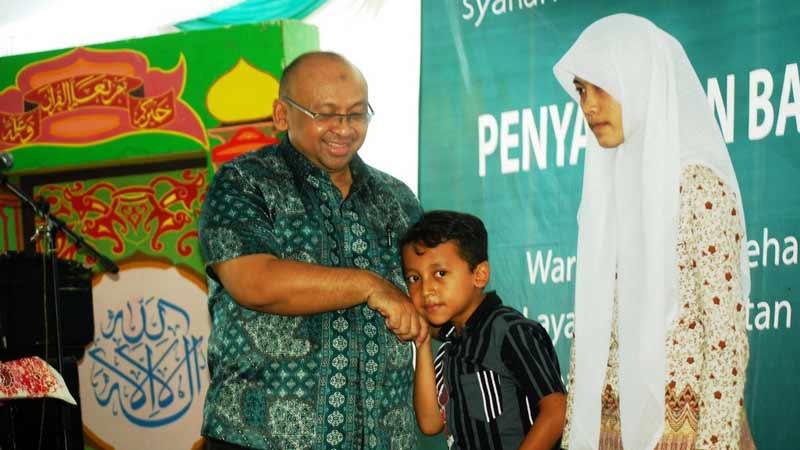 Kemensos beri bantuan 800 anak Gunungkidul. Foto: Juju.