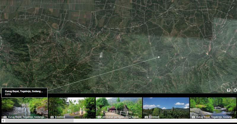 Curug Tegalrejo Gedangsari. Dok: googlemaps