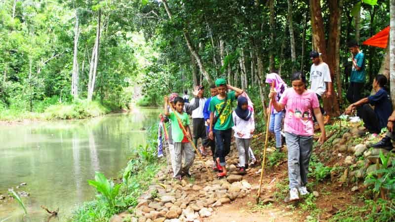 Festival Trekking Kali Nawing di Desa Salam Patuk. Foto: Atmaja.