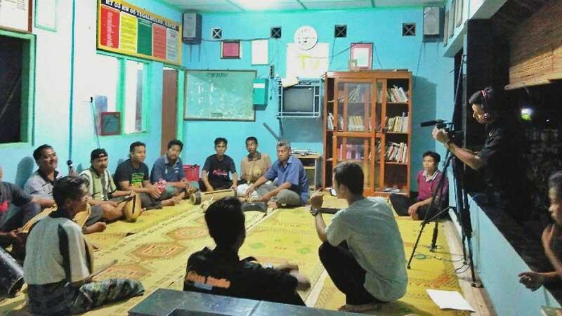 Pembuatan film dokumenter Perpustakaan Gardu Pintar Desa Kepek Wonosari. Foto: Gemma.