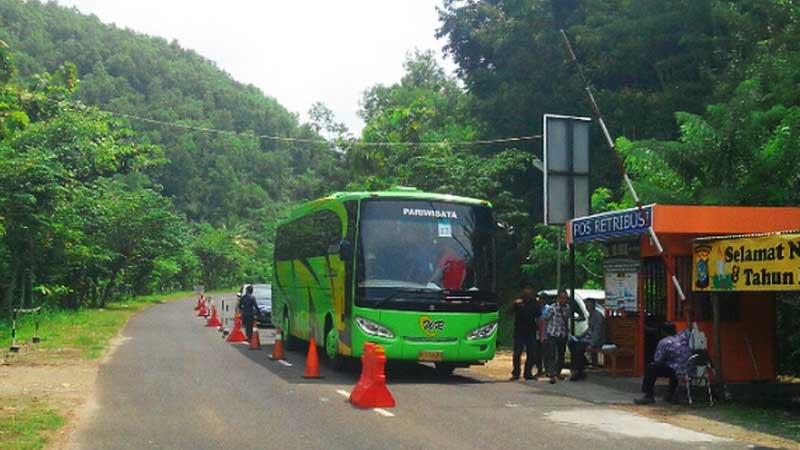 Jalur jalan kawasan wisata pantai selatan Gunungkidul. Foto: Atmaja.