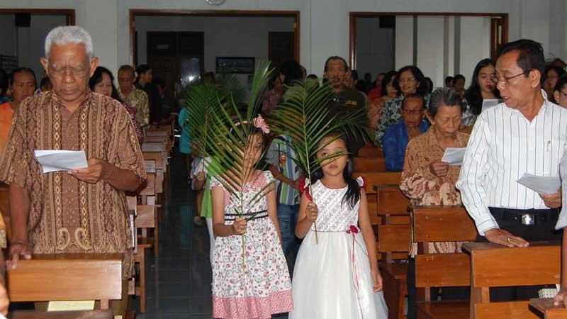 Ibadah Minggu Palma di GKJ Wonosari