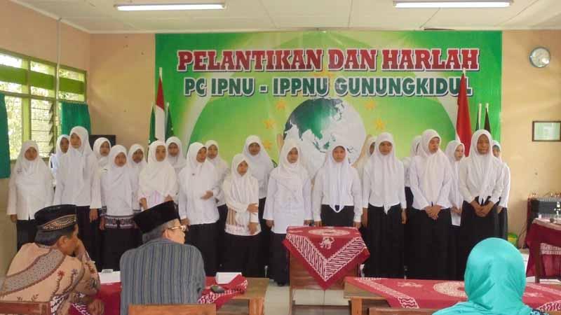 Pelantikan dan Harlah IPNU-IPPNU Gunungkidul. Foto: Hari.