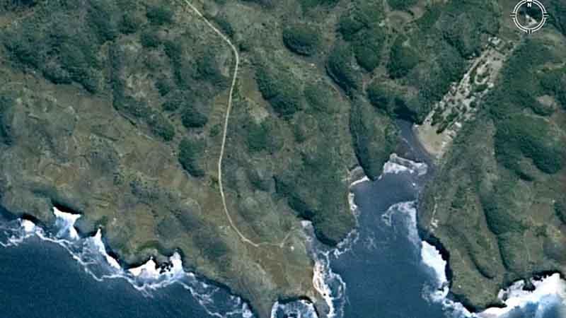 Peta pantai baron, sumber Google