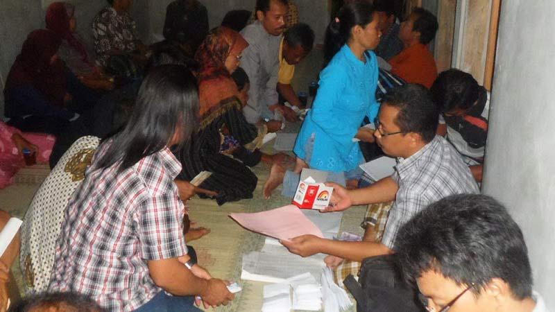 Aktivitas Sabtu Pahingan Pokja Mawar Merah Playen. Foto: Sarwo.