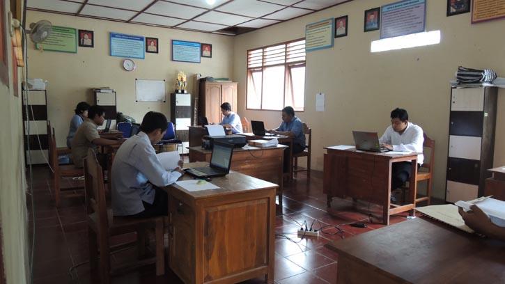 Ujian Seleksi Kabag Pembangunan Desa Pulutan Wonosari. Foto: Kandar.