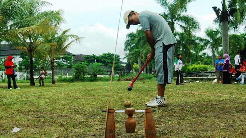 Olahraga woodball di Gunungkidul. Foto: Juju.