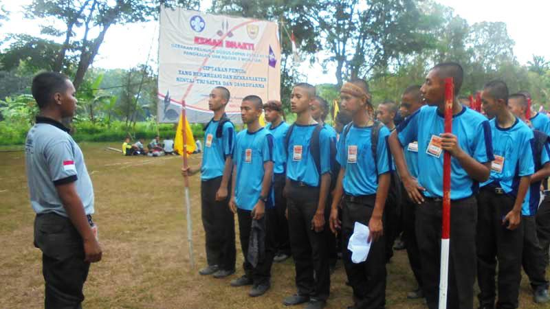 Kemah Bakti Pramuka SMKN 2 Wonosari. Foto: Sugeng.