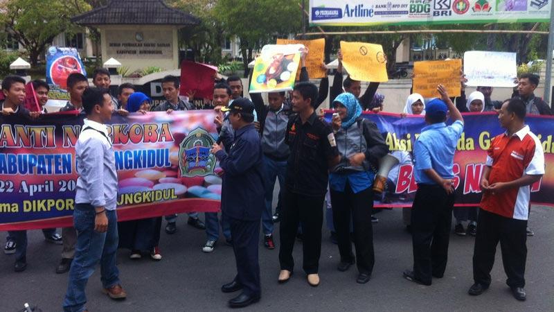 Gerakan anti narkoba di Gunungkidul KH/Juju.