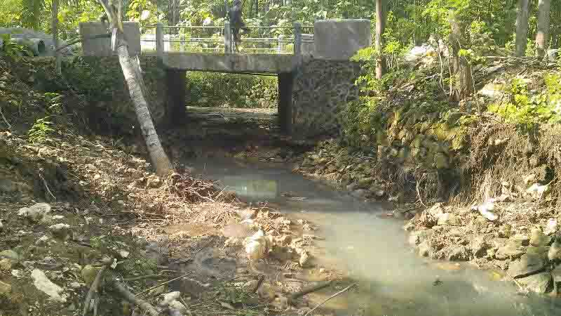 Kondisi jembatan balong. Foto : Atmaja.