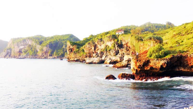 Pantai Kesirat, Girikarto Panggang. Foto: Hari.