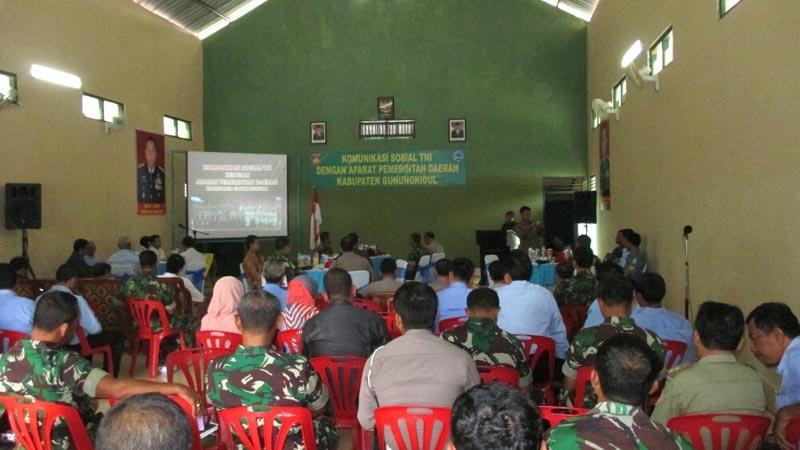 Pertemuan jajaran Kodim 0730/Gk dengan aparat Pemda Gunungkidul. KH/Atmaja.