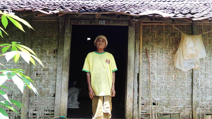 Mbah Reso, warga Paliyan. Foto: Kandar.