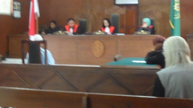 Sidang kasus pelecehan seksual di PN Wonosari. KH/Sarwo