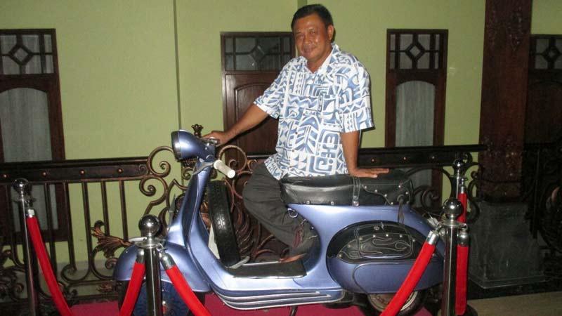 Subardi TS menyatakan optimis maju Pilbub Gunungkidul. Foto: Atmaja.