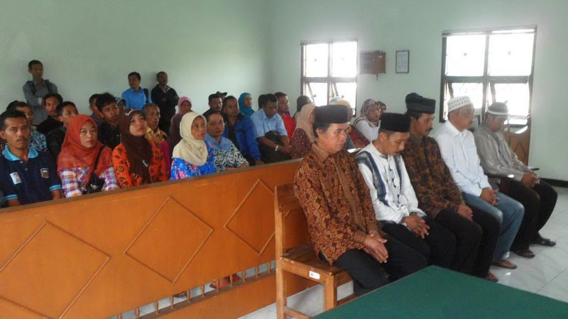Sidang vonis kasus perjudian kartu ceki di Desa Dadapayu Semanu. KH/Sarwo.